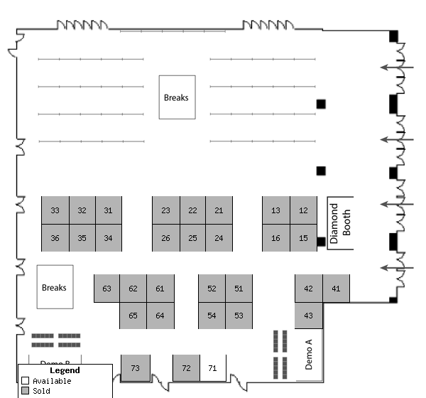 Map of Exhibit Space